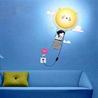 DIY девушка обои настенные светильники домой декоративное освещение теплый и забавный детская комната головоломки лампы новизна гаджет