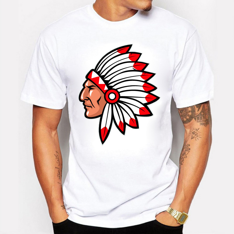 American Indian Printed Men's T shirt Custom Printed Short Sleeve Summer Hip-Hop Tees Tops American casual style Clothing