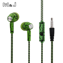 M&J Good Sound In Ear Crack Earphone Super Deep Bass Studio Monitor Stereo Music Earbuds With Microphone For iPhone Samsung