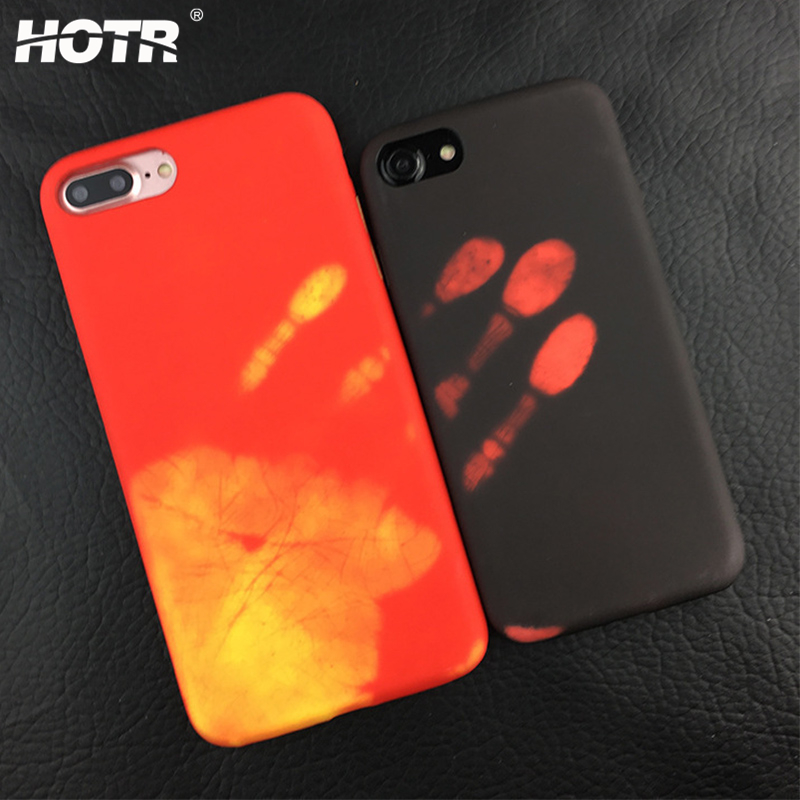 HOTR Heat Sensitive Case for iphone 6 6s plus 7 7 plus Soft TPU Case Cover HOT Discoloration Changed Color Thermal Sensor Case