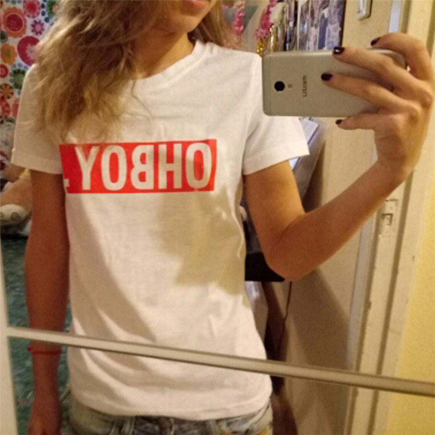Hoffen OHBOY Drucken Sommer Tops 2017 New Fashion Damen T-Shirts O - Damenbekleidung - Foto 2