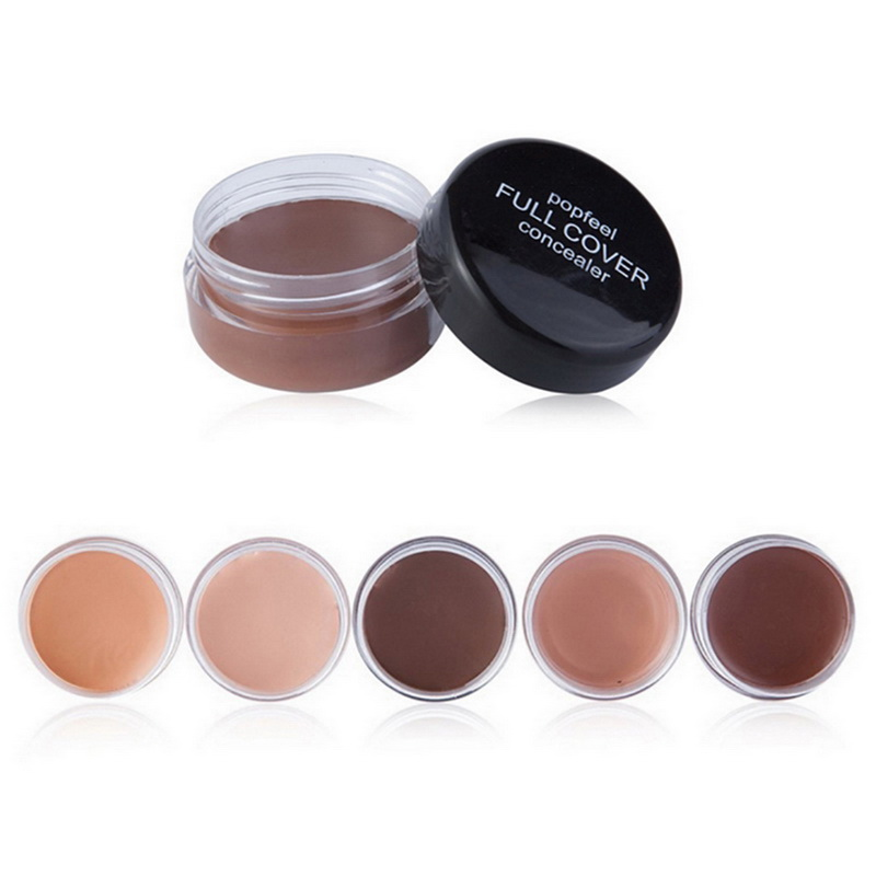 POPFEEL New Cover Black Eye Moisturizing Concealer Beauty Makeup Natural Waterproof Foundation Facial Wrinkles 5colors image