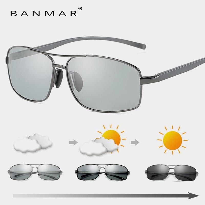 Photochromic Sunglasses Men Polarized Discoloration HD Goggles Male Anti Glare Driving Glasses Brand Design Eyewear Oculos 2458