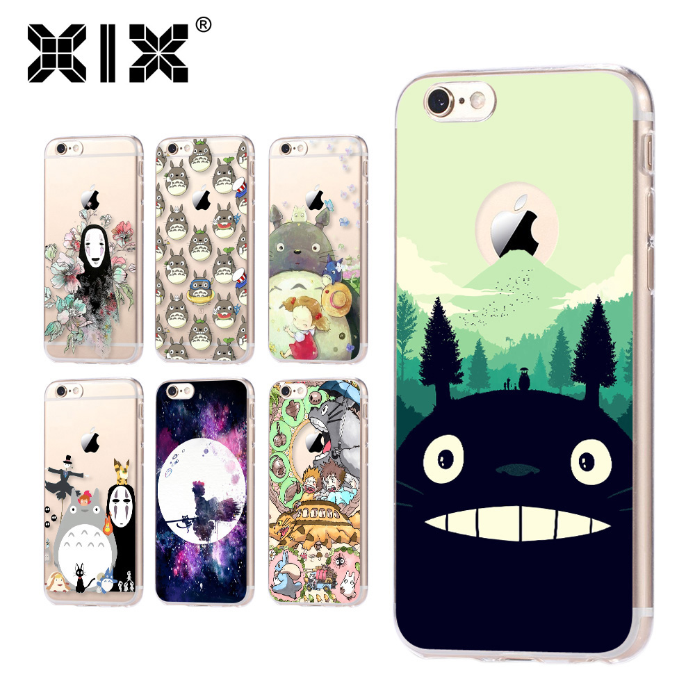 For fundas iPhone 5S case 5C 5S 6 6S 7 Plus Totoro soft silicone TPU cover