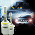 N9 80W 9600lm Cree XHP50 Car LED Headlight Kit H1 H3 H4 H7 H9 H11 H8 9005 HB3 9006 HB4 9600LM H7 6000k 12V C with Fan Play  Plug