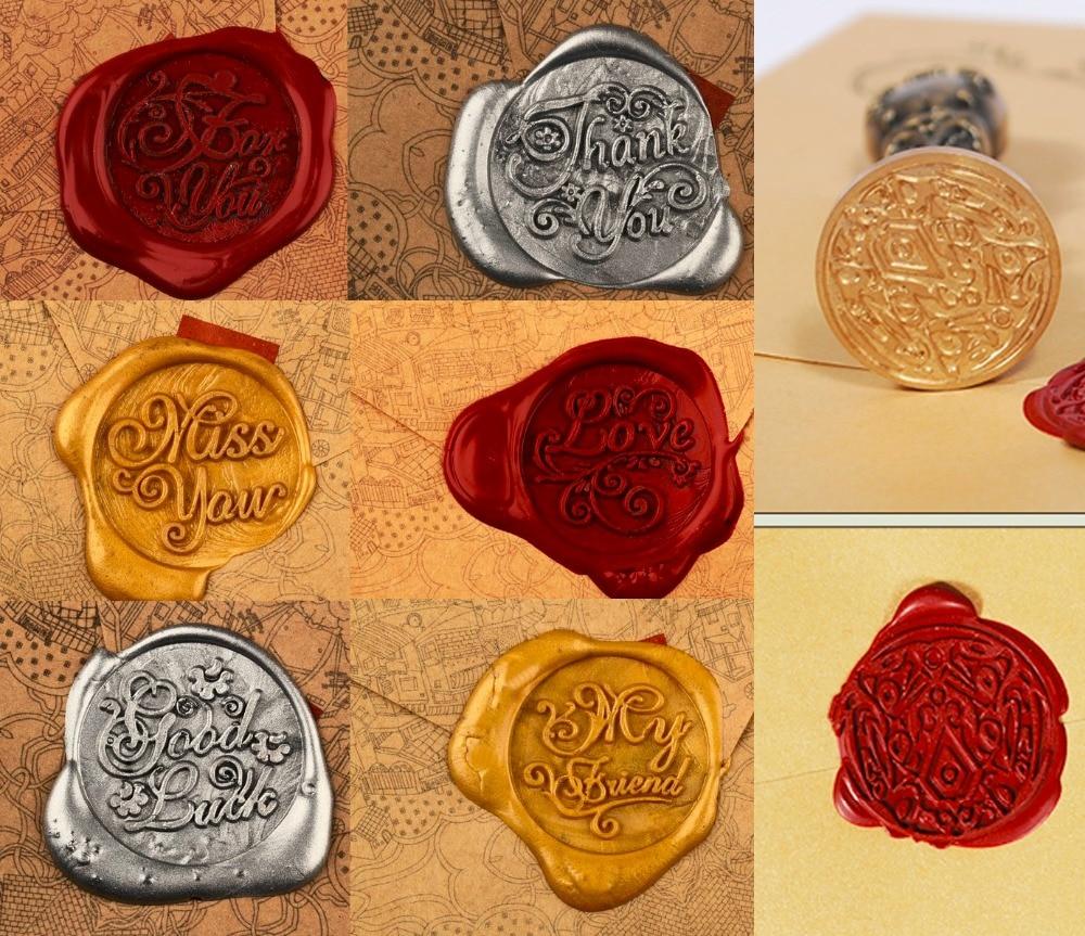 Wax Seal Copper head Twilight/Greetings DIY Scrapbooking Vintage wax ...