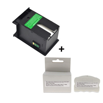 Compatible Waste Ink Container Maintenance Tank Resetter For Epson T6711 T6710 WorkForce WF 3010 3520 3640 4730 7110 7210 7510 einkshop good waste ink tank for epson 3800 3800c 3850 3880 3885 3890 printer for epson 3800 maintenance waste tank with chip