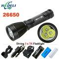 100M 3 CREE XML T6 Underwater Diving flashlight  torch scuba flashlights dive waterproof light 8 mode 18650 OR 26650 8000 lumens