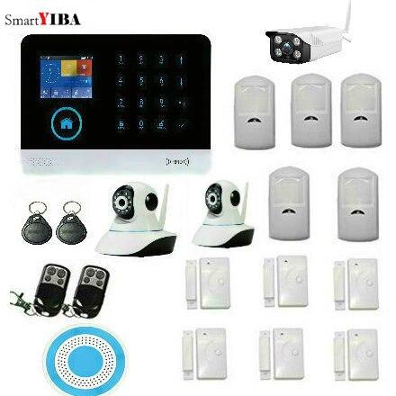 SmartYIBA APP Control Home Burglar Security Wireless Wifi Gsm RFID Alarm System Kit Outdoor WIFI IP Camera French Spanish Polish