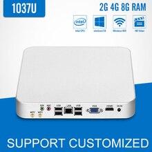 Мини-ПК Компьютер Celeron 1037U Windows 10/7/8 Linux Вентилятор Охлаждения Мини Настольных Computador HD Graphics HDMI с Wi-Fi Тонкий Клиент