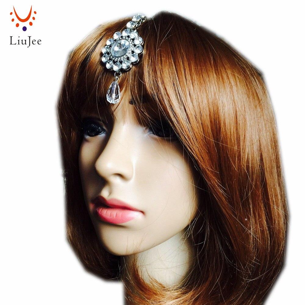 Hair Bindi Tikka Forehead Chain Head Side Piece Hijab Jhumar Indian HeadPiece KD014
