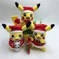 Новый Хэллоуин Рождественский Подарок Горячие Игры Пикачу Косплей Санта-Клауса плюшевые Игрушки для Детей Игрушка Пикачу Мягкие Плюшевые Куклы для Детей игрушка