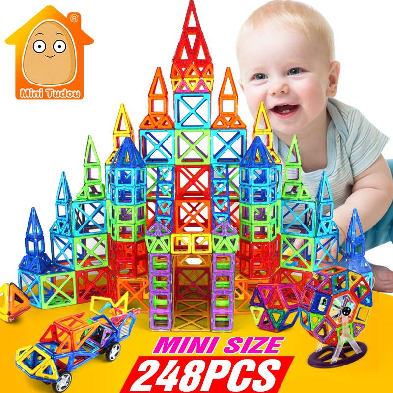 Minitudou 248PCS Mini Magnetic Blocks Educative Constructor DIY Models Building Toy Designer Game Educational Toys For Children game theory models for derivative contracts