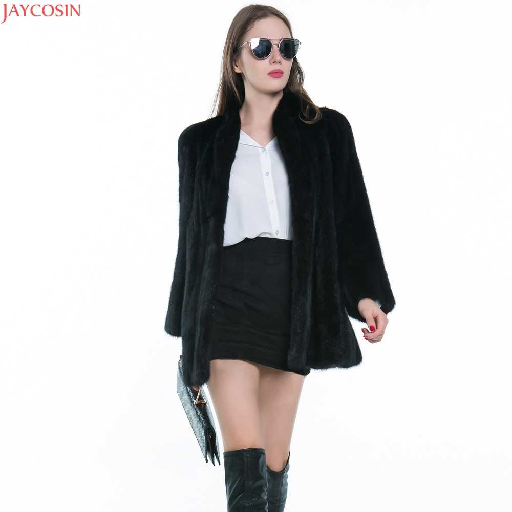 女性の冬の黒の毛皮のコート長袖フェイクファーアウター女性の毛皮のジャケットブランドのコート