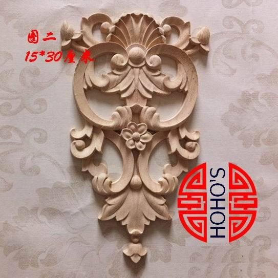 Wood carving dongyang wood fashion corners applique smd carved shavings flower bed cabinet furniture