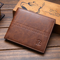 Wallet Men 2017 Fashion Short Wallets Men Purse Black Short Style Retro Frosted More Card Solid Card Holder Carteira Masculina