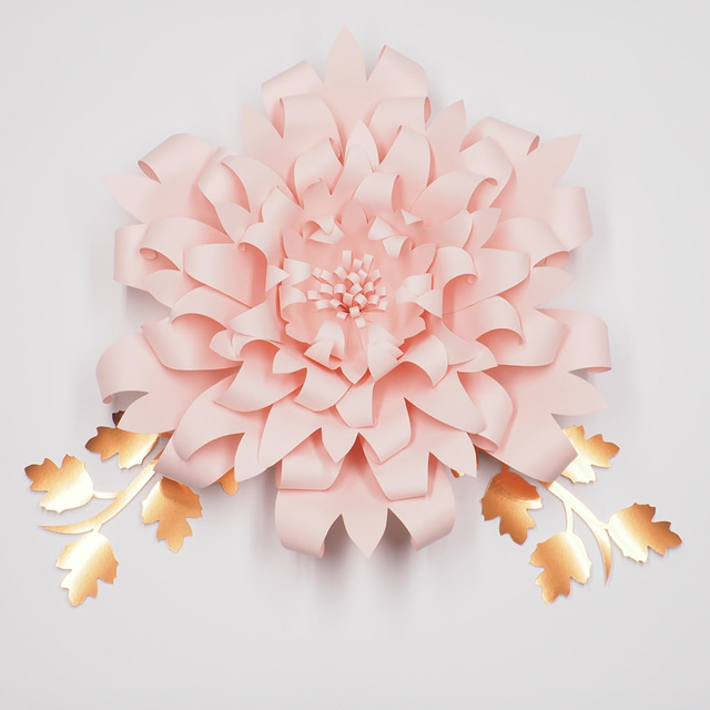 1piece flower 2pcs leaves giant large paper flowers backdrop wall 1piece flower 2pcs leaves giant large paper flowers backdrop wall deco wedding arch handcrafted artificial flowers mightylinksfo