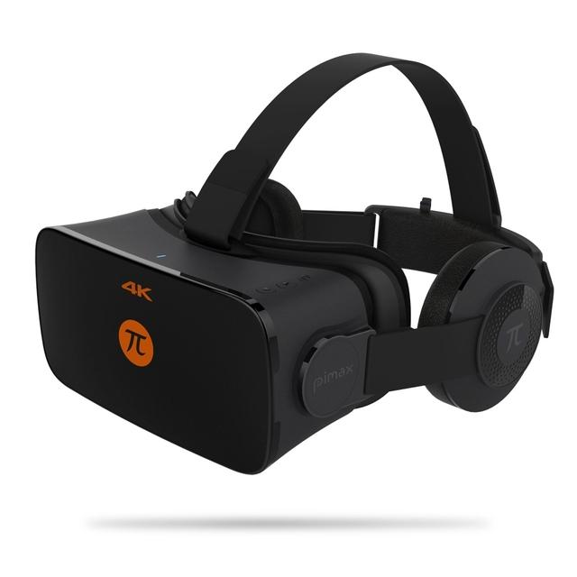 Original PIMAX 4 K VR Capacete Papelão Realidade Virtual Óculos de Vídeo Do Telefone Móvel 3D Filme Fone de Ouvido Com Fone de Ouvido 110 PC grau