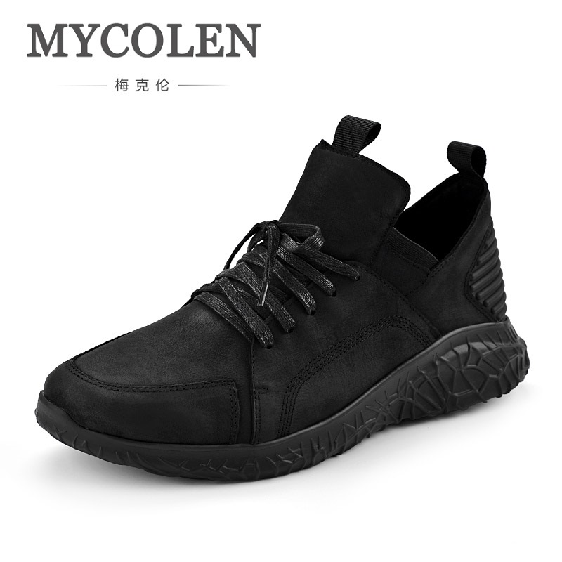 MYCOLEN New Arrivals Men's Boots Casual Genuine Leather Round Head Spring Autumn New Fashion Men Shoes Scarpe Uomo Invernali italy golden goose brand men s and women s genuine leather casual shoes low ggdb denim green shoes scarpe uomo 2016