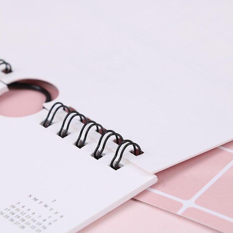 Office & School Supplies 2019 Plan Gifts Home Paper Decoration Vertical Multifunction Office Notebook Timetable Kawaii Cartoon Desk Calendar Non-Ironing Calendar