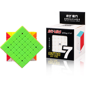 QiYi Mofangge Qixing 7x7 Magic Cube Competition Speed Puzzle Cubes Toys For Children Kids cubo stickerless Matte cube Gifts Toys mo yue guo guan yue xiao 3 3 3 black magic cubes puzzle speed rubiks cube educational toys gifts for kids children
