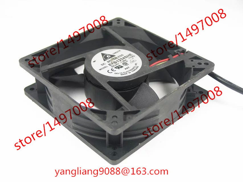 Free Shipping For Delta EFB1324SHE, -T7NQ DC 24V 1.38A 3-wire 3-pin connector 90mm 120x120x38mm Server Square Cooling Fan free shipping for delta afc0612db 9j10r dc 12v 0 45a 60x60x15mm 60mm 3 wire 3 pin connector server square fan