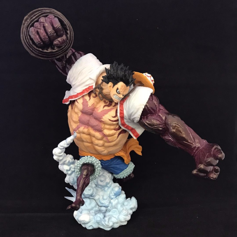 21cm One piece Gear fourth Monkey D Luffy Anime Action Figure PVC New Collection figures toys Collection for Christmas gift anime one piece dracula mihawk model garage kit pvc action figure classic collection toy doll