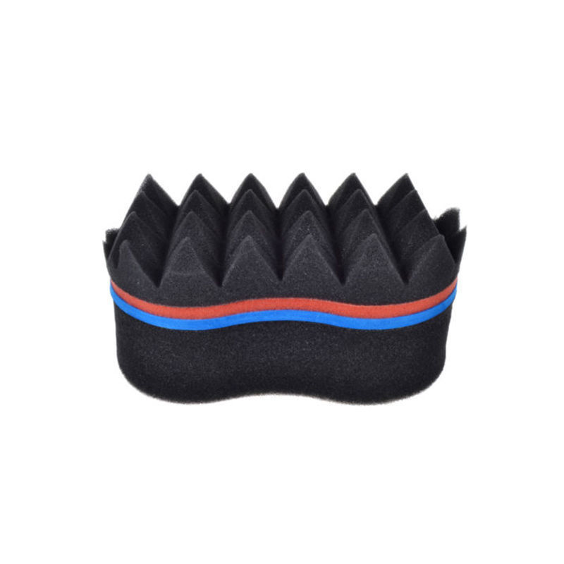 Home Appliances Fashion Style Double Sided Barber Hair Brush Sponge Dreads Locking Twist Coil Afro Curl Wave Personal Care Appliance Parts
