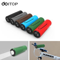 DOITOP Bluetooth Speaker P3 Outdoor Bicycle Portable Subwoofer Bass Wireless Speakers Power Bank With LED Flashlight