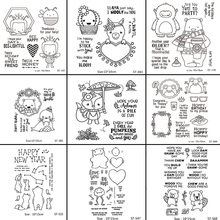 AZSG Cartoon Animals Bee/Alpaca/Bear/Fox Clear Stamps For DIY Scrapbooking/Card Making/Album Decorative Silicone Stamp Crafts
