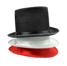 magician hat (white/black/red) - magic trick, tile hat,jazz hat,Magic trick classic toys,magic prop,Free shipping