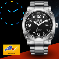 NDESS Relogio Masculino Mens Watches Top Brand Luxury Military Tourbillon Automatic Mechanical Watch Men Full Steel