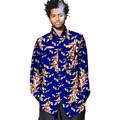 African shirt men fashion hollow out bust long sleeve african clothes african print dashiki tops of africa clothing