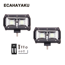 ECAHAYAKU 2x 5 inch 54w Offroad LED Work Light Bar flood lamp led bar for Car 12V 24V SUV TRUCK ATV Boat Wagon Pickup Motorcycle