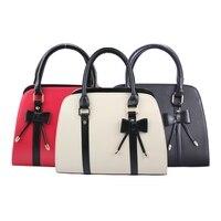 Designer Bags Lady Girls Korean Leather Butterfly Knot Decoration Messenger Handbag Shoulder Bag Totes 3 Color Famous Brands 40
