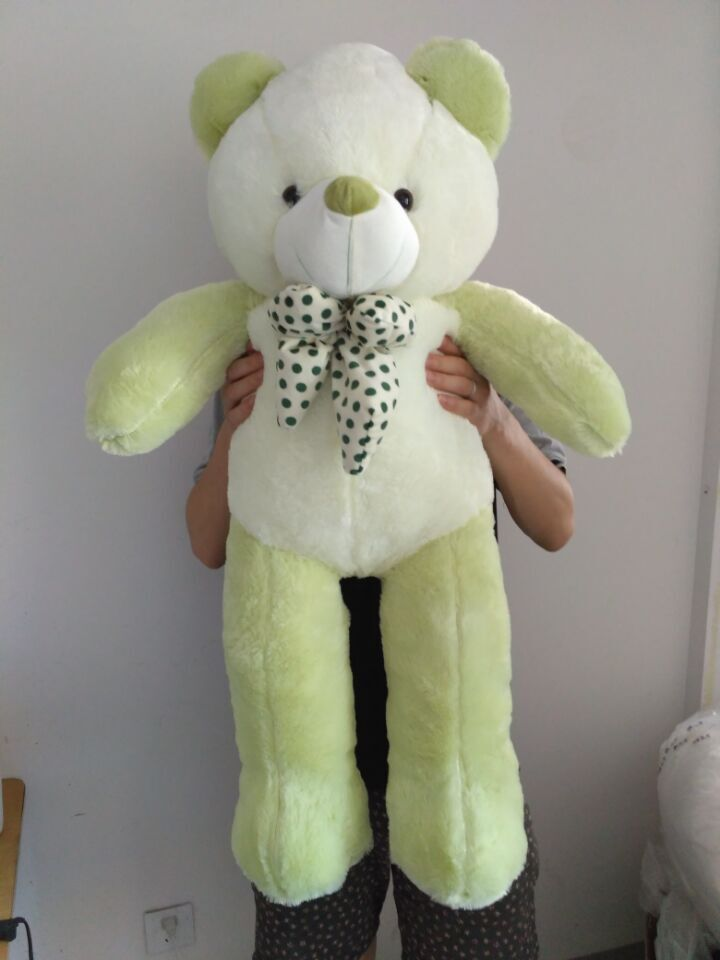 lovely new plush Teddy bear toy stuffed light green teddy bear with bow birthday gift about 100cm new creative plush bear toy cute lying bow teddy bear doll gift about 50cm