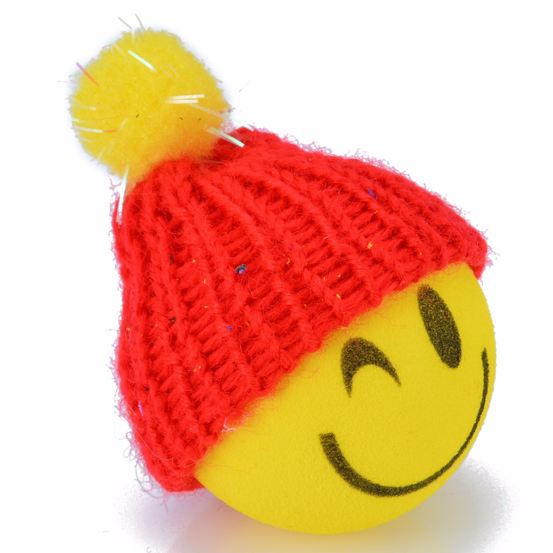 US $2 04 40% OFF|1PCS EVA Material Yellow Happy Smiley Face With Wool Hat  Ball Antenna-in Car Stickers from Automobiles & Motorcycles on