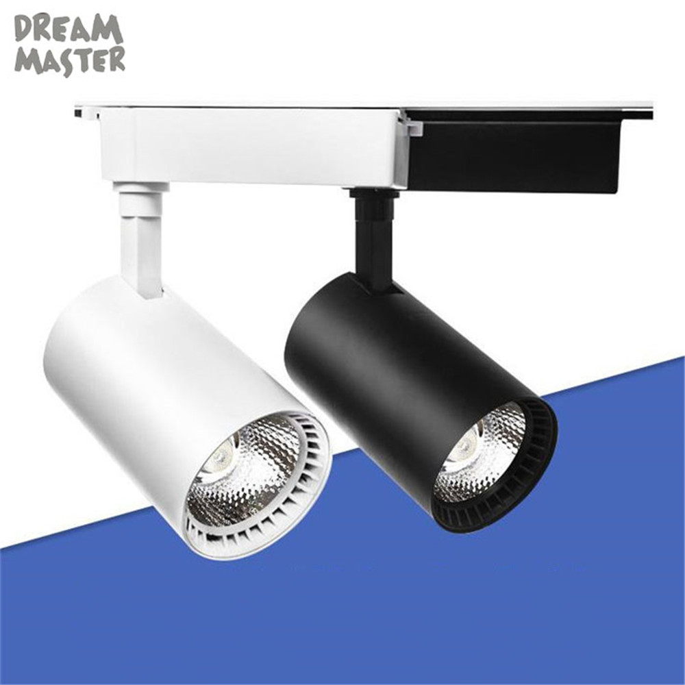 Industrial 5/7/9/12 W COB LED luz de la pista llevó la lámpara carril led focos Iluminación accesorio para tienda iluminación del punto