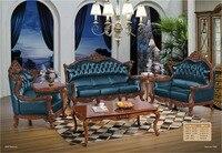Handmade Carved Wood Frame Living Room Furniture Sofa