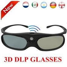 79d21f51e7783 Universal DLP Óculos de Obturador Ativo 3D 96-144Hz Para XGIMI Projetor  Optoma Acer Viewsonic