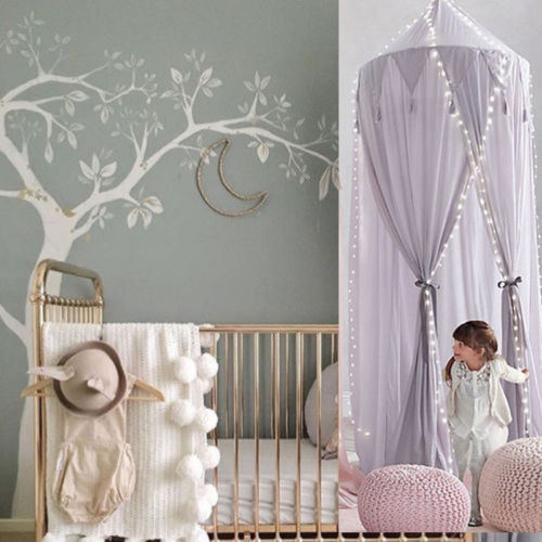 Baby Bassinet Valance Kids Baby Bed Canopy Bedcover Mosquito Net Curtain Bedding