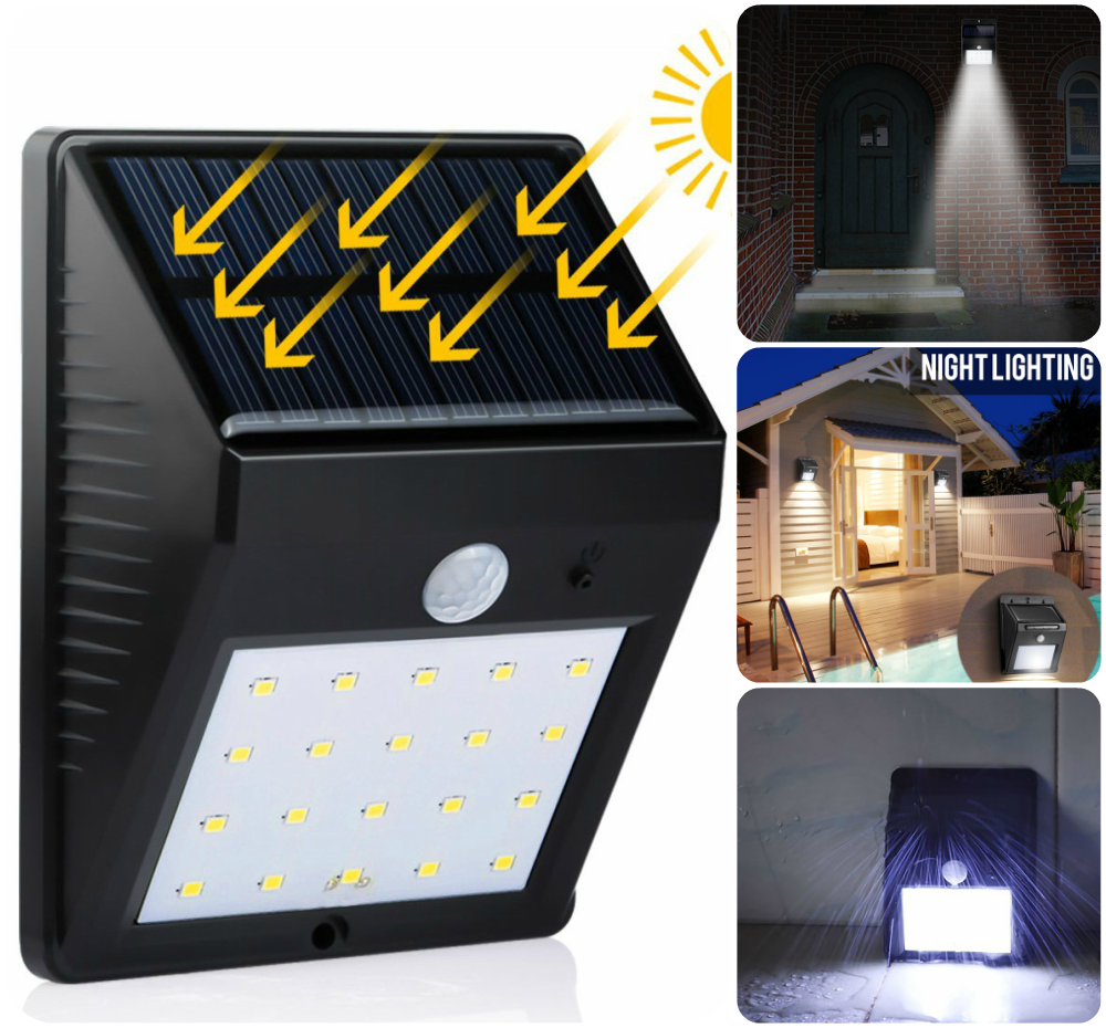 Solar Power 20 LED Lmap Spot Light Motion Sensor Outdoor Garden Decoration Waterproof Security Luz Solar Solaire Lamps