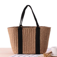Women Handbag Summer Beach Bag Rattan Woven Handmade Knitted Straw Large Capacity Totes Women Shoulder Bag Bohemia Sac A Main new fashion large capacity totes handbag shoulder bags for women square straw bag summer rattan bag handmade woven beach bohemia