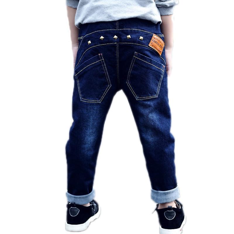 2018 Herbst Lange Kinder Jeans Jungen Mode Niet Jungen Jeans Haram Kinder Hosen Kinder Kleidung Jungen Jeans Hosen Für 2-10 T Gesundheit Effektiv StäRken