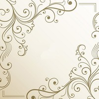 Gold Floral Frame Scene Backgrounds Vinyl Cloth Computer Printed Wall Photo Backdrop