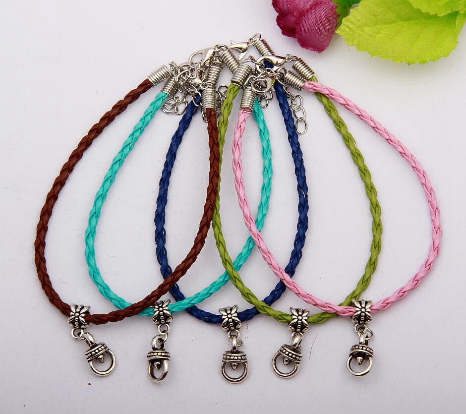 Ancient Silver Lovely Griphook Charm Multicolor Braided Rope Protection Good Luck Bracelets DIY Jewelry Women&Men 20pcs/lot N070