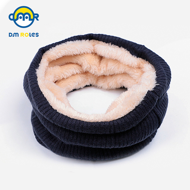 DMROLES New Cotton Winter Baby Scarf Kids Children Scarf Girls Scarves For Women Girls/Boys Thick Warm Scarf Drop Shipping