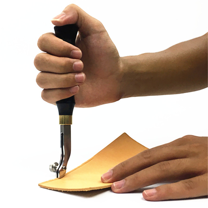 Junetree borde ajustable línea de borde de cuero borde ajustable edger ranura de presión zanja twist cuero borde liner