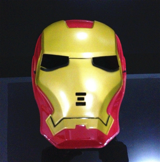 1pcs cool cosplay glowing iron man mask halloween make up toy for kids mask - Cool Masks For Halloween