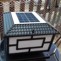 Новое поступление Солнечная колонна светодиодный светодиодная Солнечная садовая лампа наружная поддержка блок питания для двойное примен